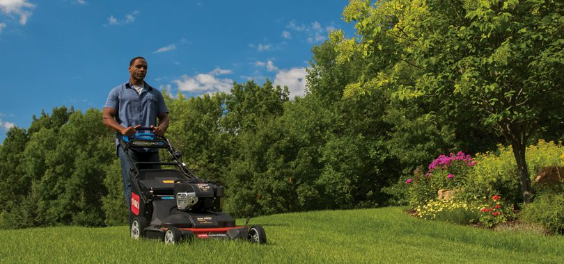 Burn Calories Doing Yardwork with Toro Timemaster push lawn mower